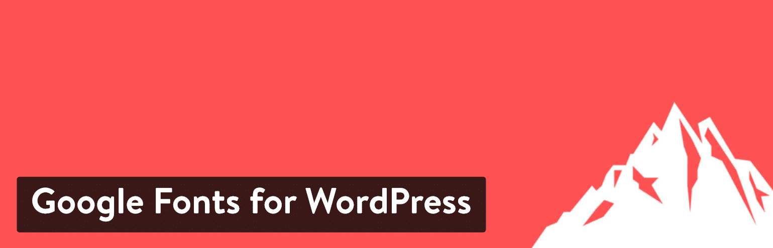 Extension Google Fonts for WordPress