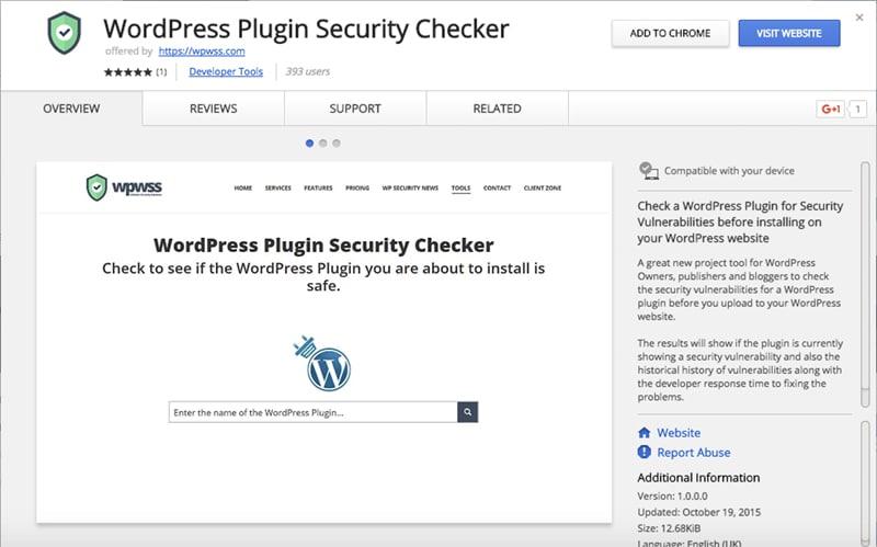 WordPress Plugin Security Checker