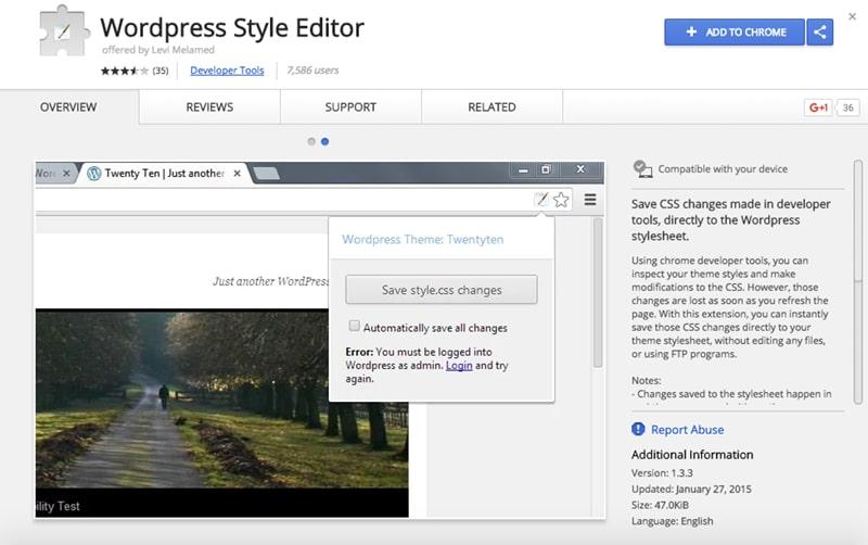 WordPress Style Editor