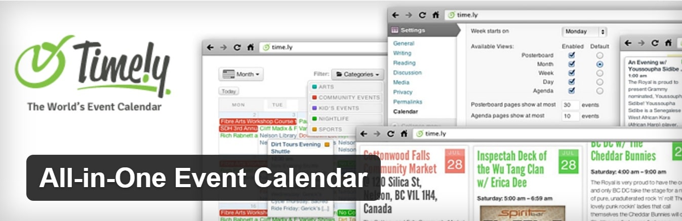 L'extension WordPress All In One Event Calendar