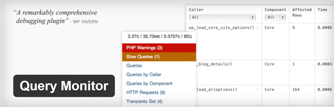 Plugin Query Monitor WordPress