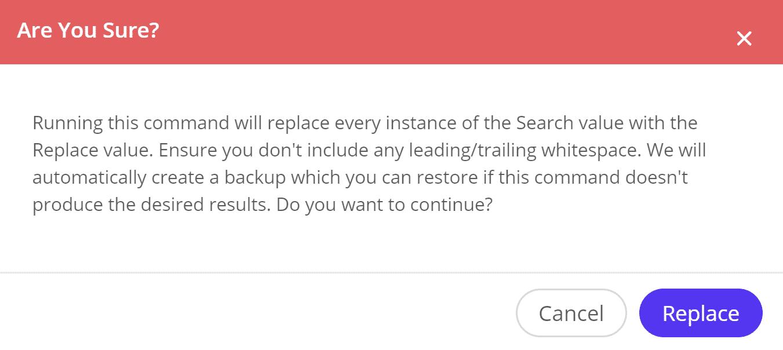 Recherche et remplacement en direct