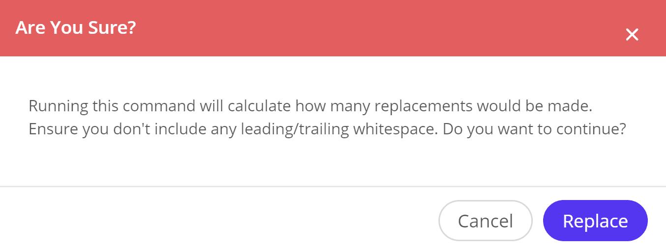 Rechercher et remplacement, calculer les remplacements