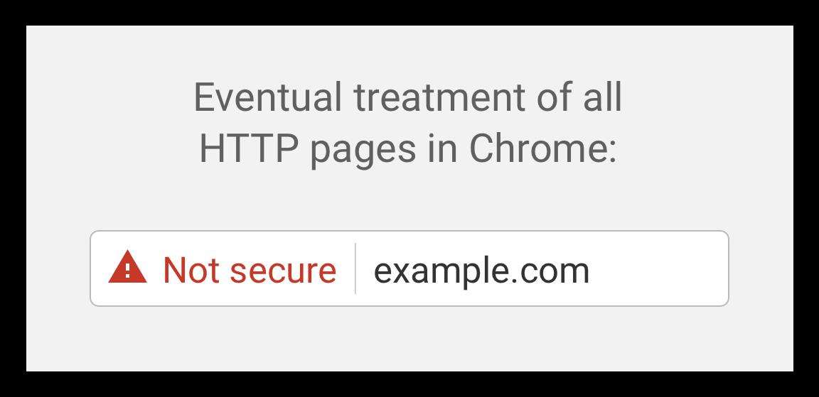 Avertissement rouge non sécurisé Chrome