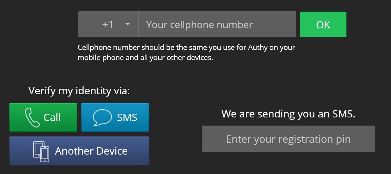 Configurer l'application Authy
