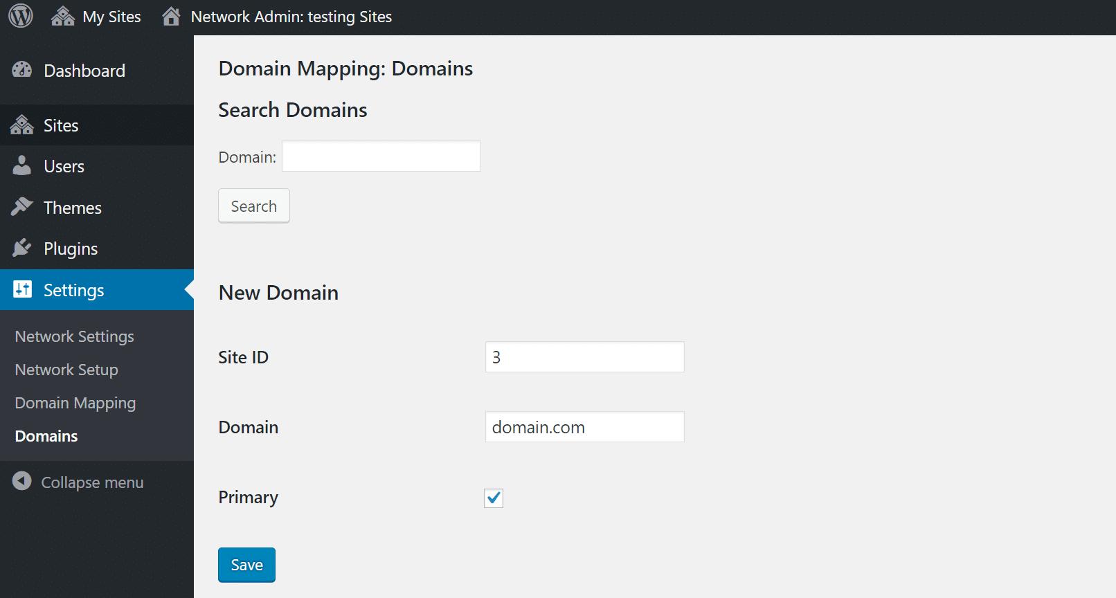 Mapper un domaine à l'ID