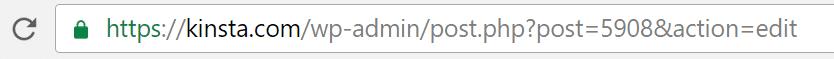 ID d'article dans la barre d'adresse