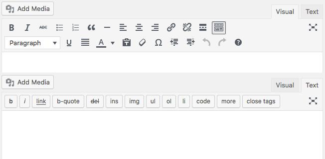 Comparaison des éditeurs visuels et textuels