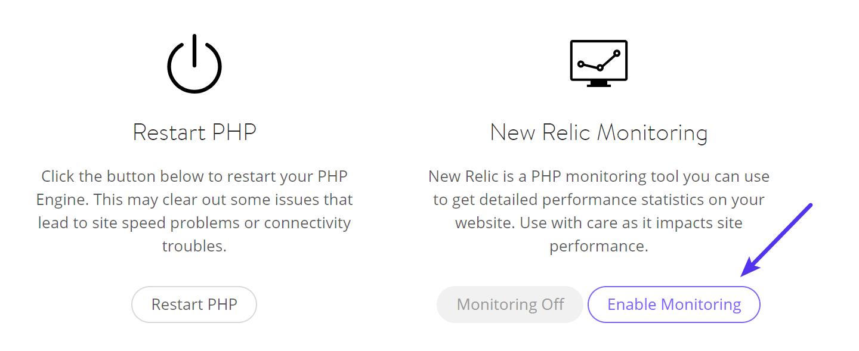 Activer le suivi New Relic