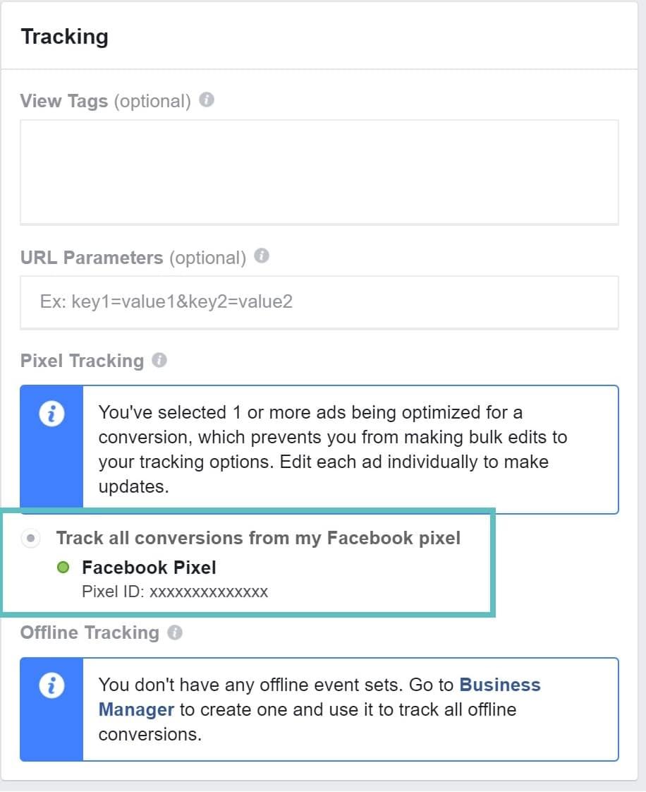 Annonces Facebook pixel