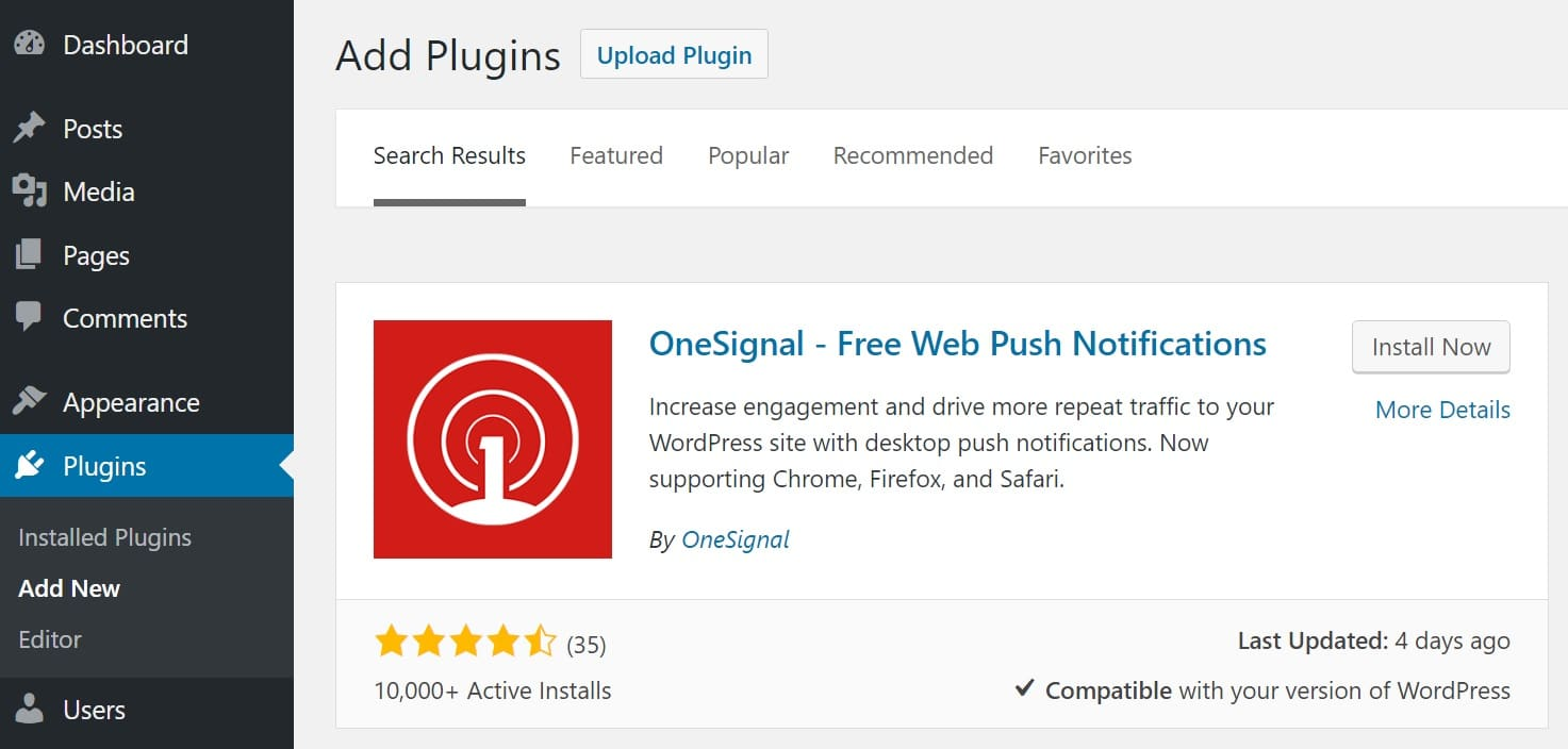 Installer les notifications push web OneSignal