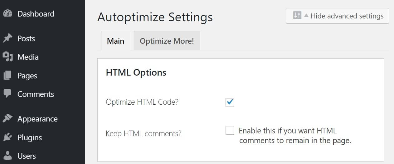 Optimiser le code HTML