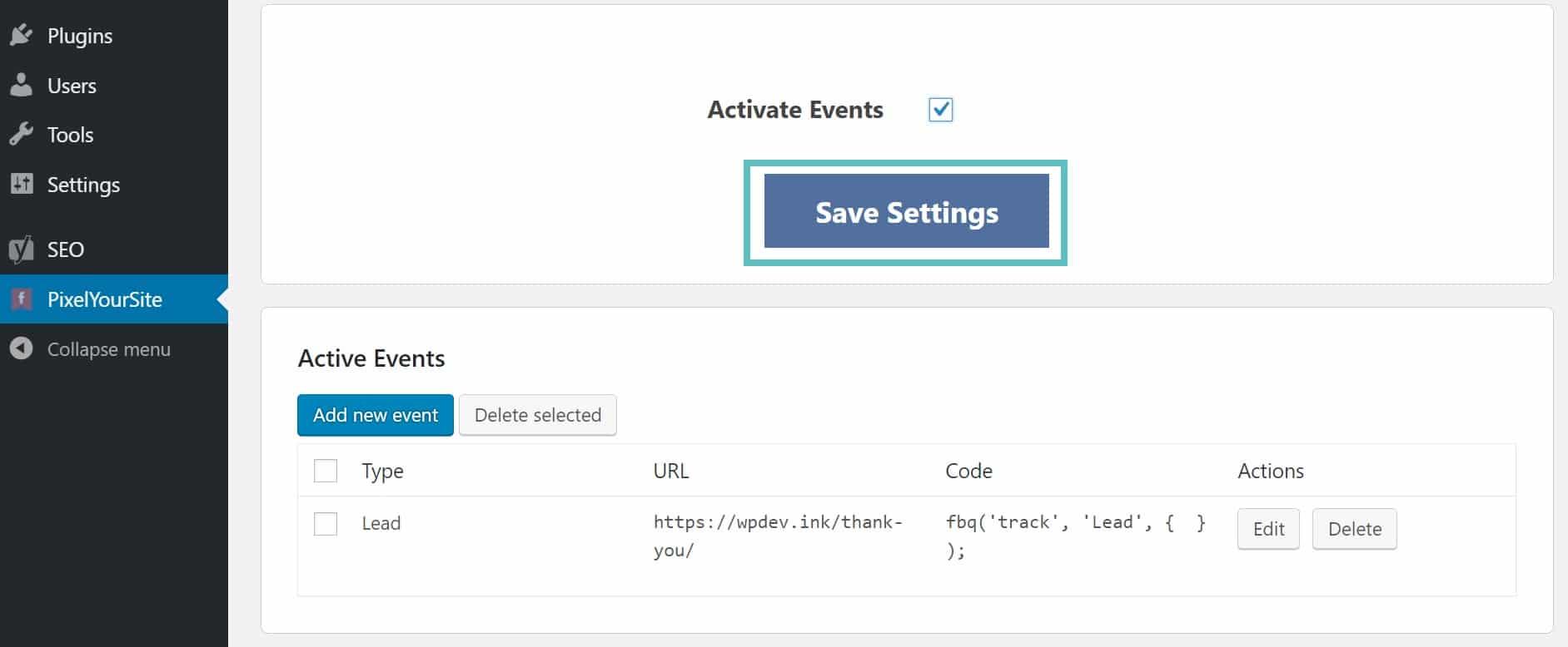 Sauvegarder l'événement Facebook
