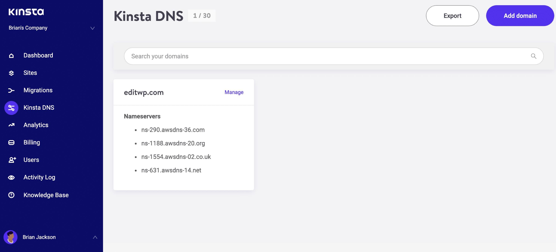 Serveurs de noms DNS Premium