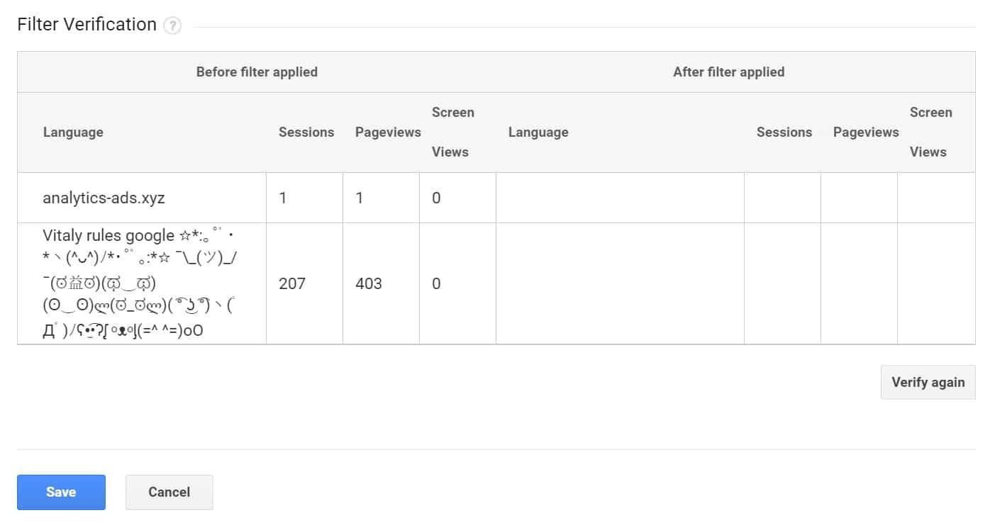 Vérifier le filtre de spam linguistique