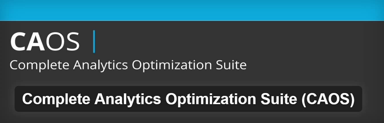 Extension Complete Analytics Optimization Suite
