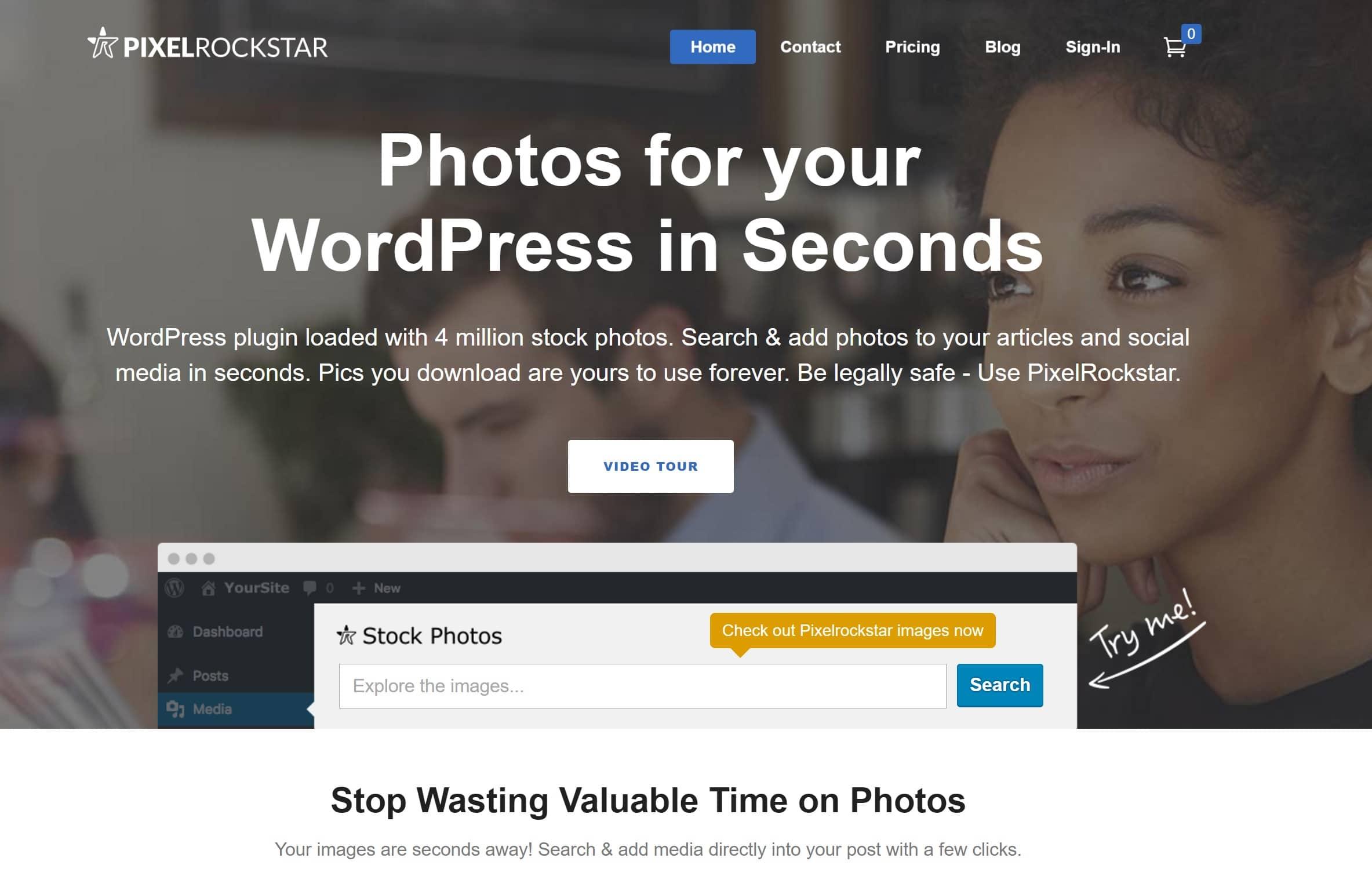 PixelRockStar: Photos de stock pour WordPress