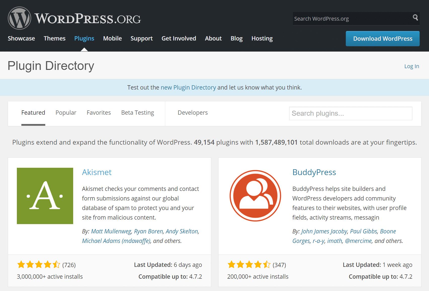 Dépôt WordPress