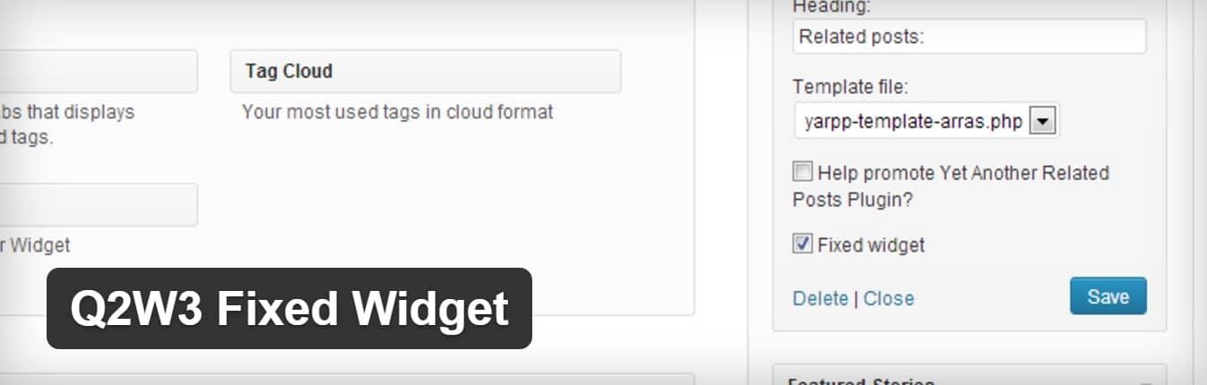 Widget WordPress défilant