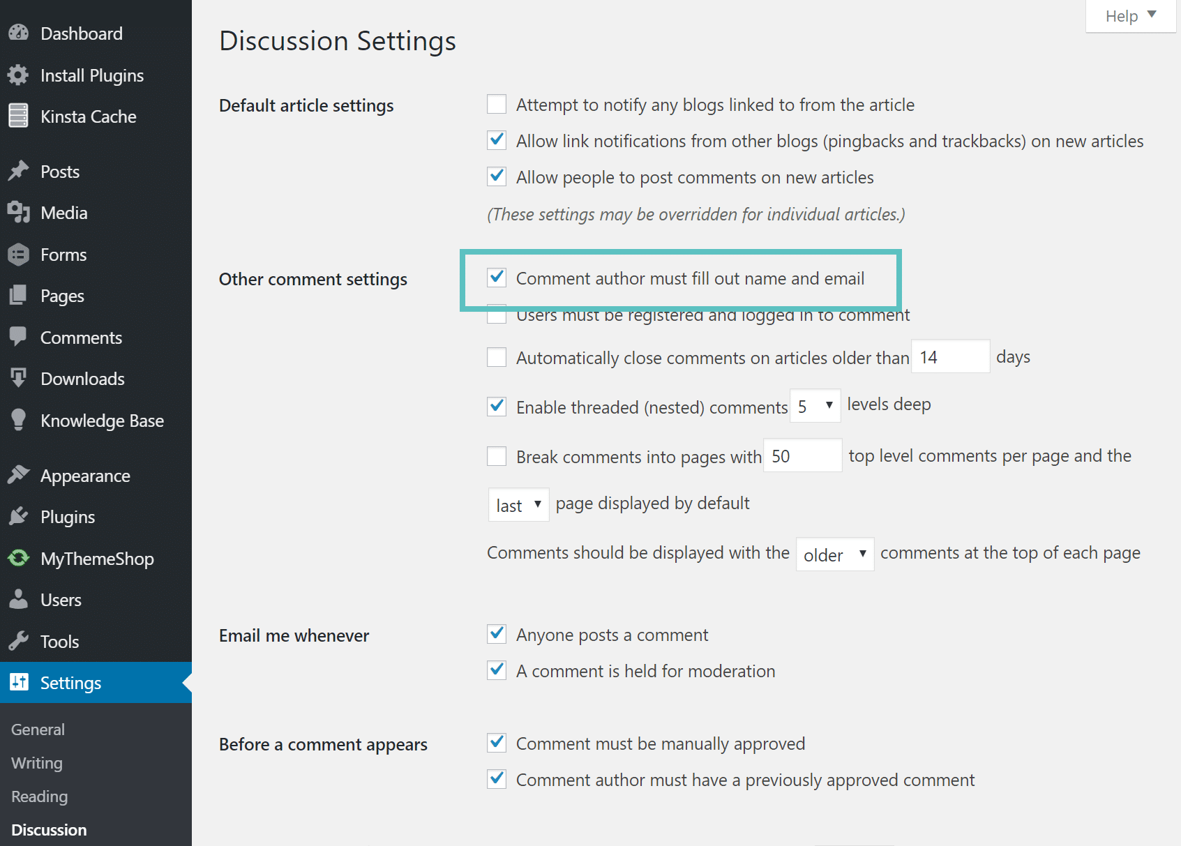 Désactiver les commentaires anonymes dans WordPress