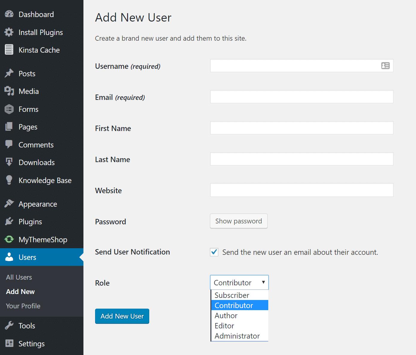 Donnez au réédacteur l'accès à votre site