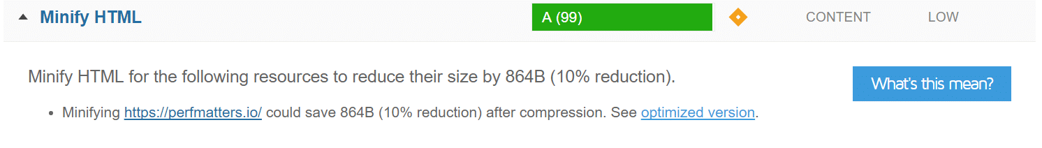 Minifier HTML