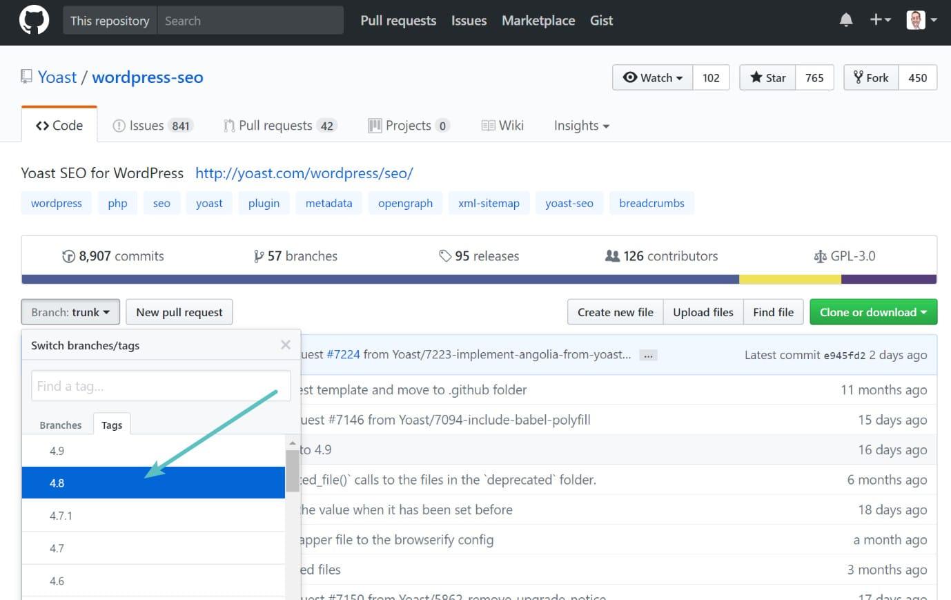Extension WordPress sur GitHub