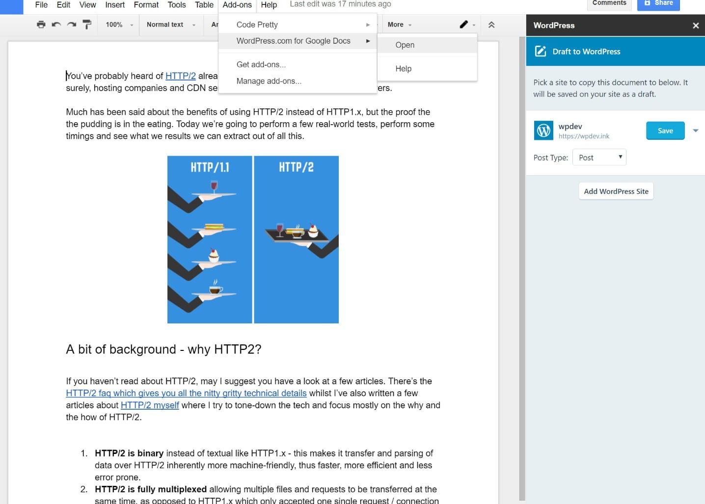 Exporter Google Docs vers WordPress avec Jetpack