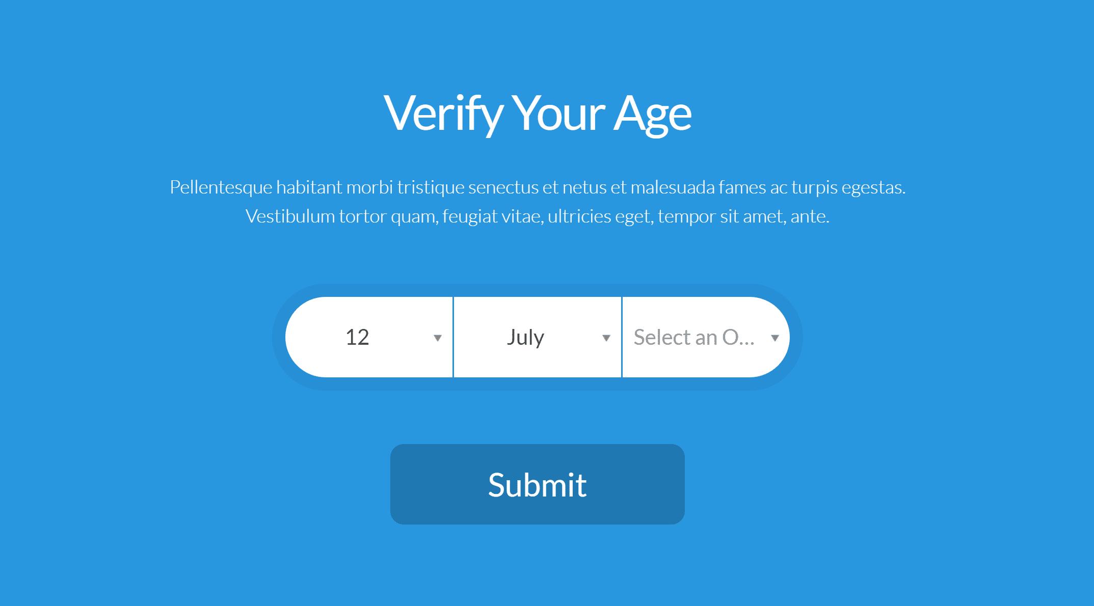 Une barrière d'âge d'aspect plus moderne