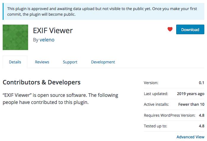 La page de l'extension est active, mais l'extension n'est pas disponible au téléchargement.