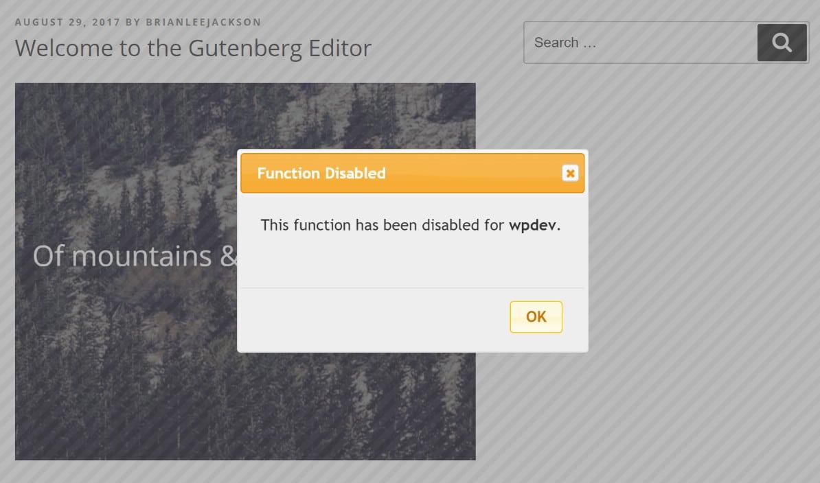 Désactiver le clic droit dans WordPress