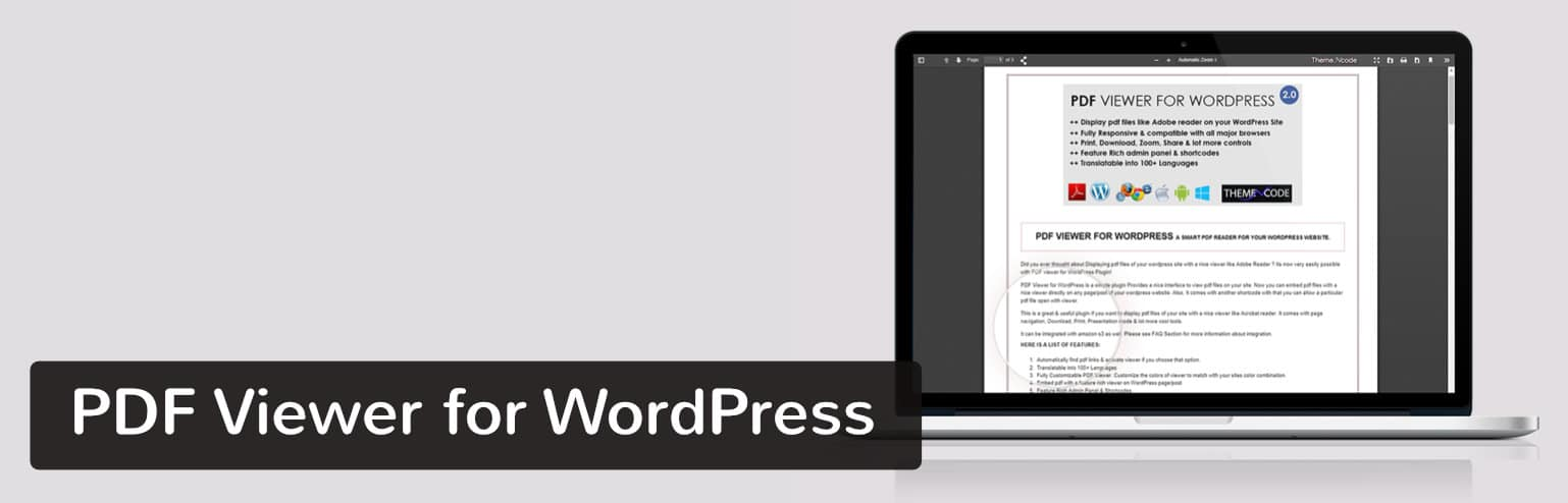 Extension PDF Viewer for WordPress