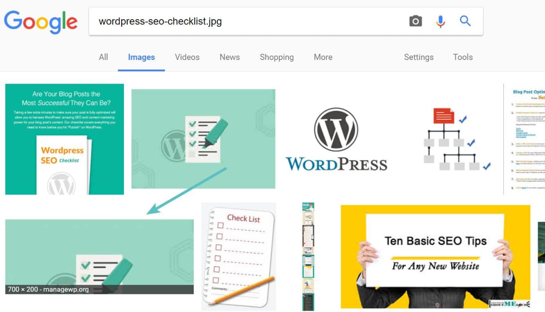 Recherche d'images Google par nom de fichier