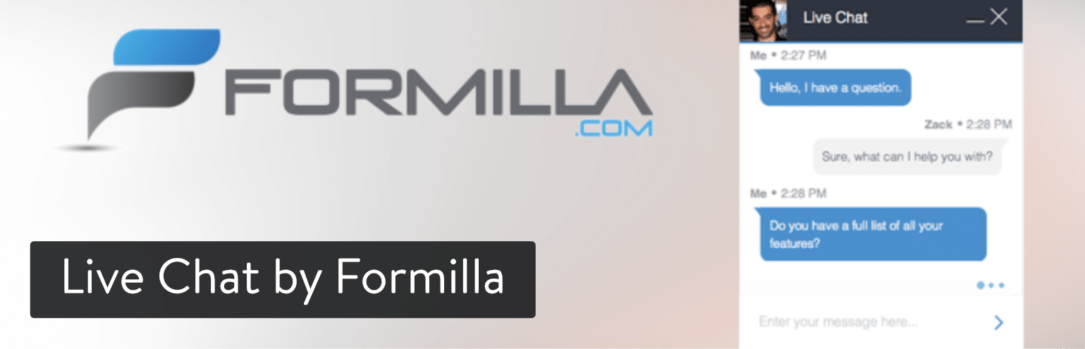 Extension WordPress Live Chat by Formilla