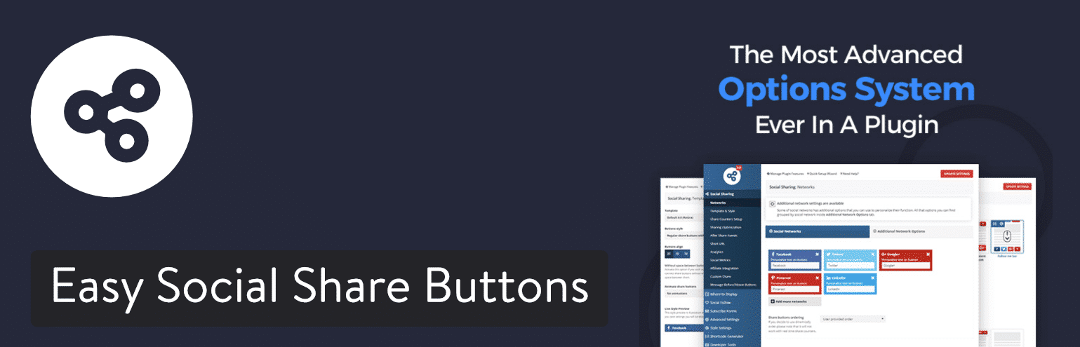 Plugin Easy Social Share Buttons pour WordPress