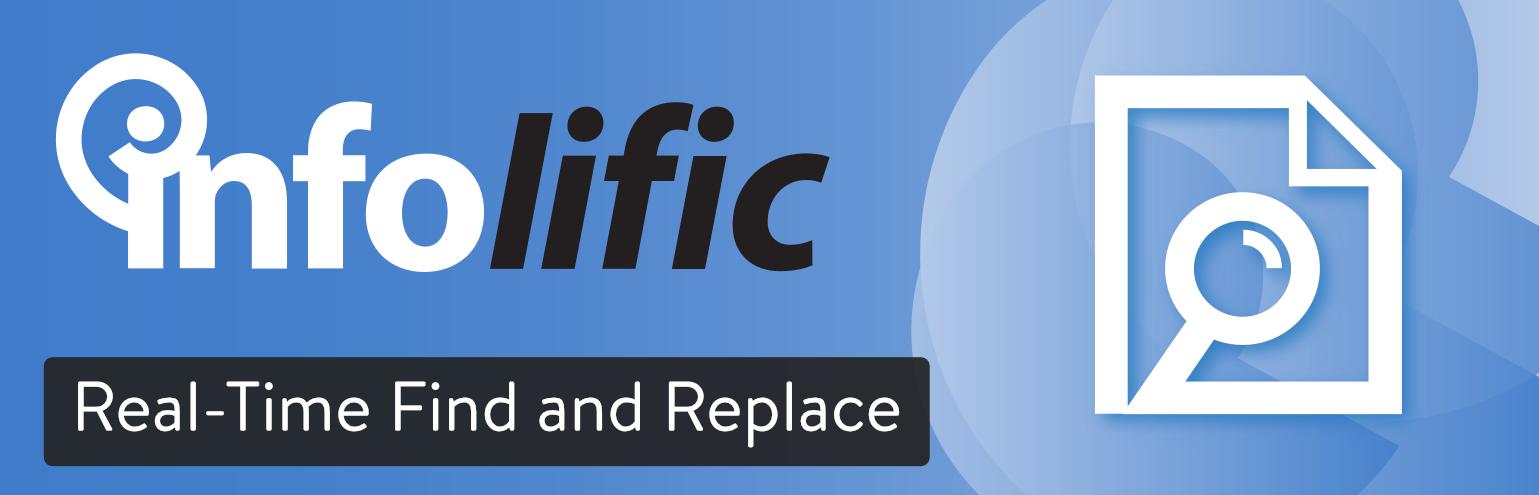 Recherche et remplacement en temps réel avec une extension WordPress.