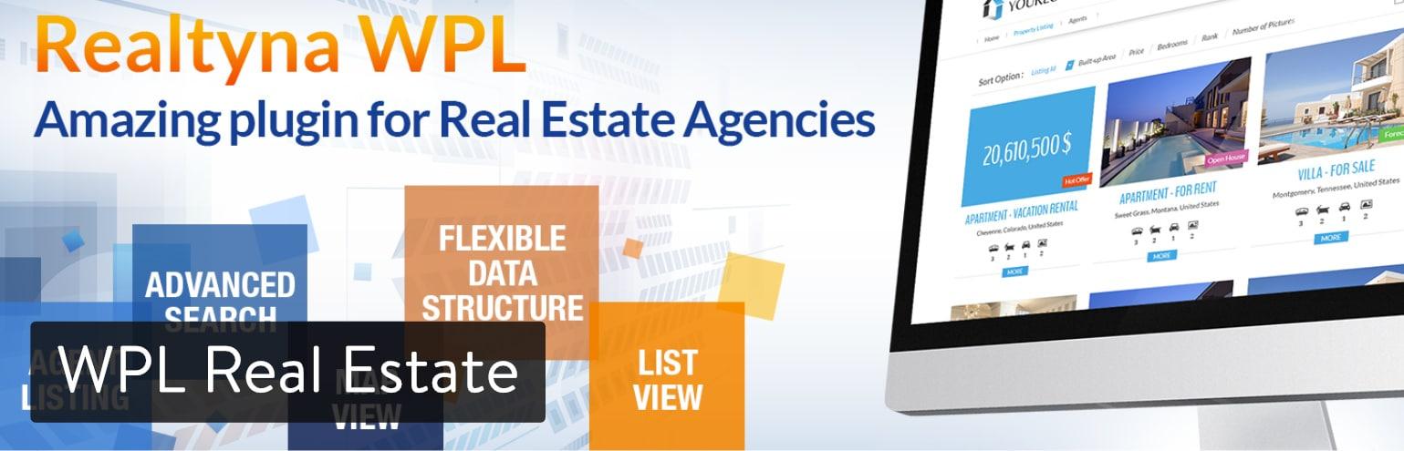 Extension WordPress WPL Real Estate