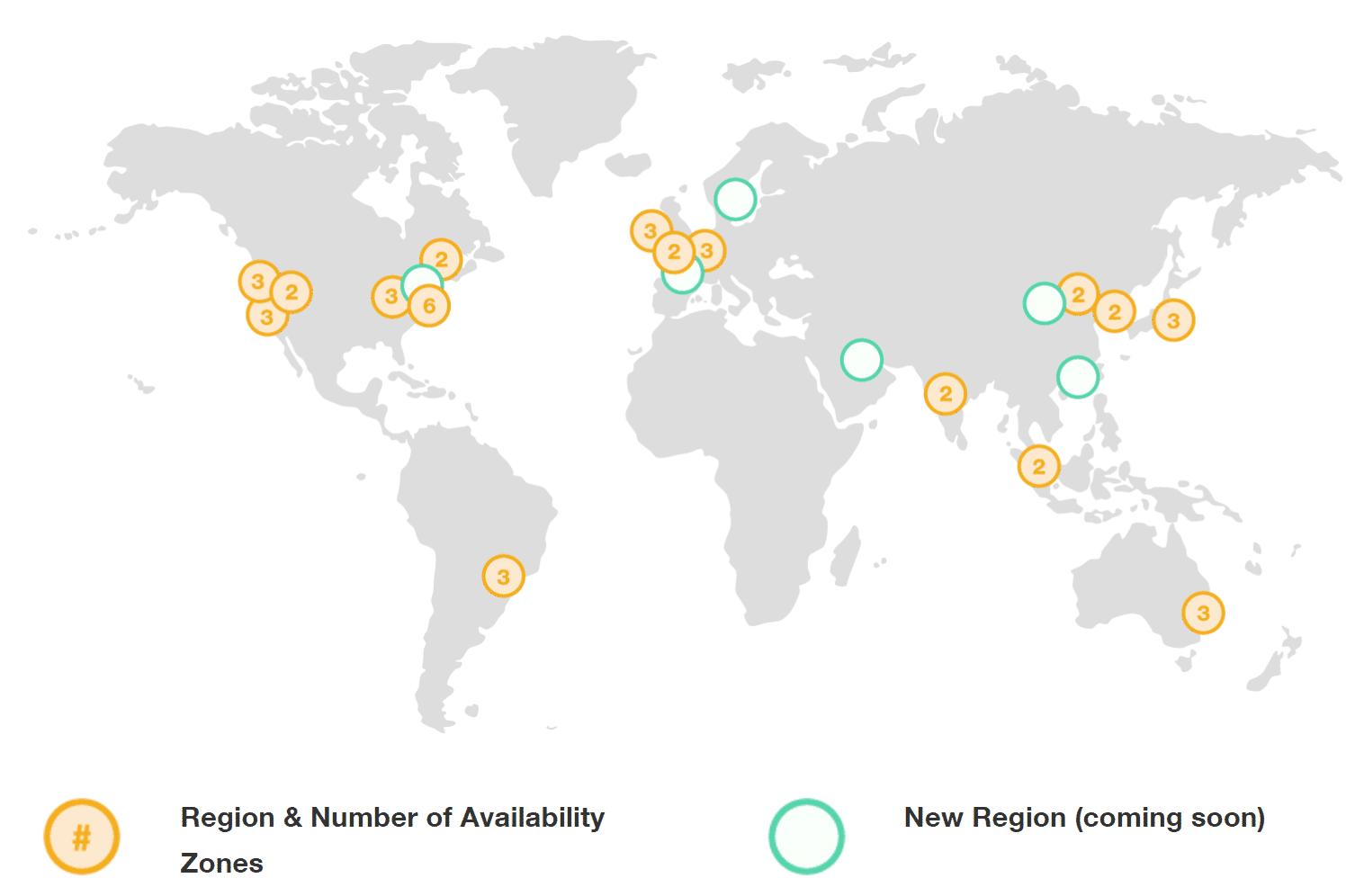 Réseau mondial de AWS
