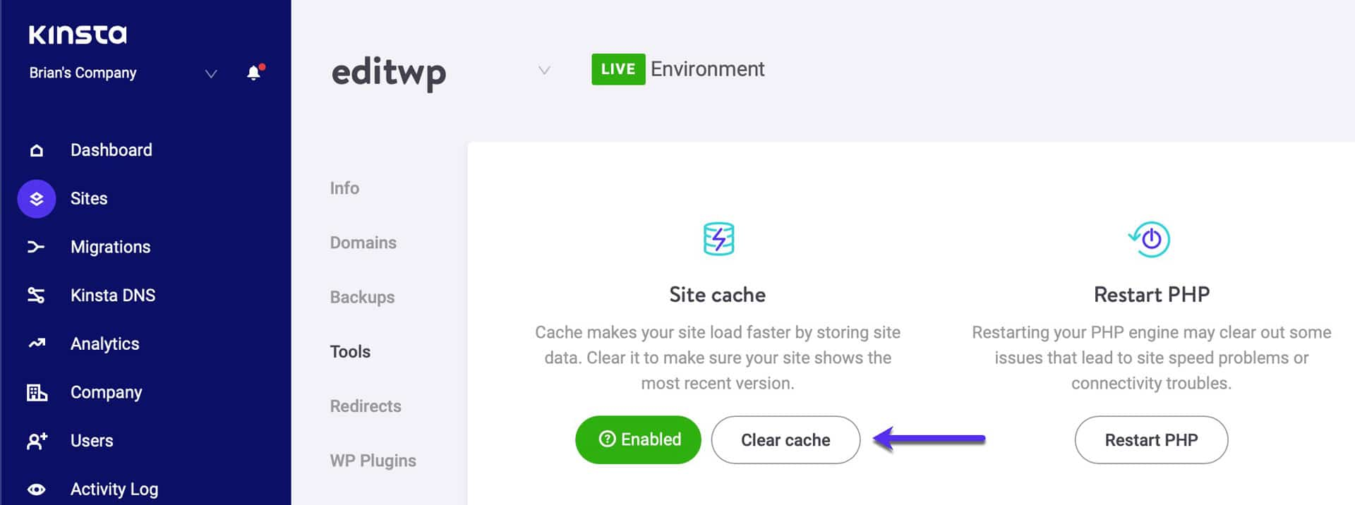 Vider le cache WordPress