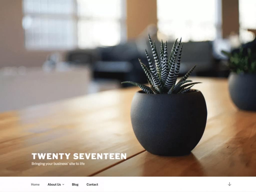 Thème Twenty Seventeen