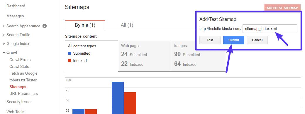 Ajoutez l'emplacement de votre sitemap