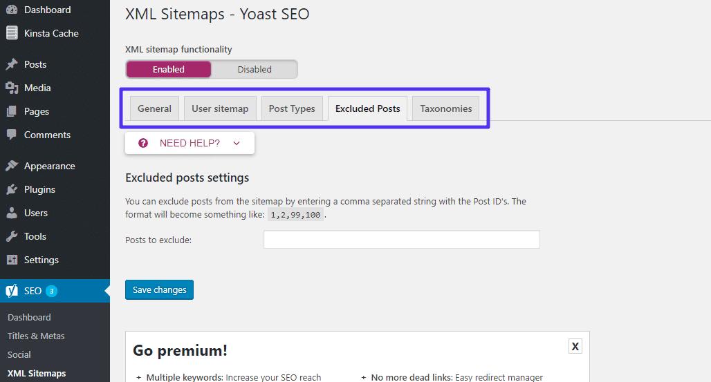 Configuration des sitemaps XML de Yoast SEO
