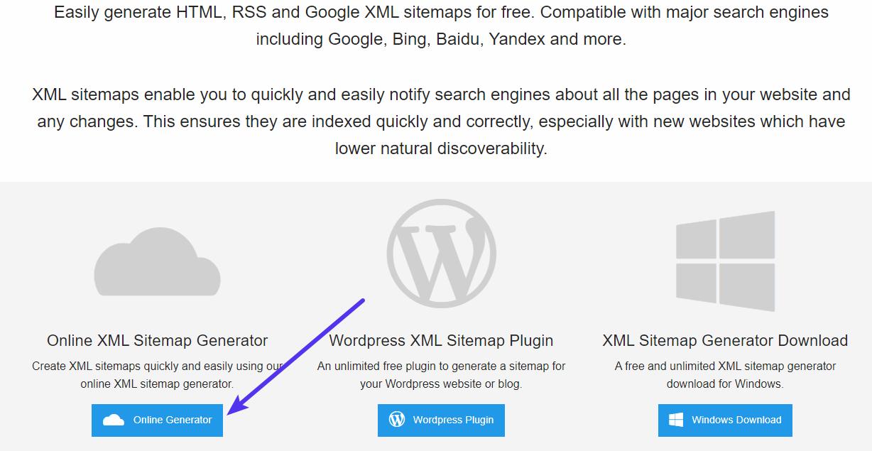 Utilisation du générateur de Sitemap XML