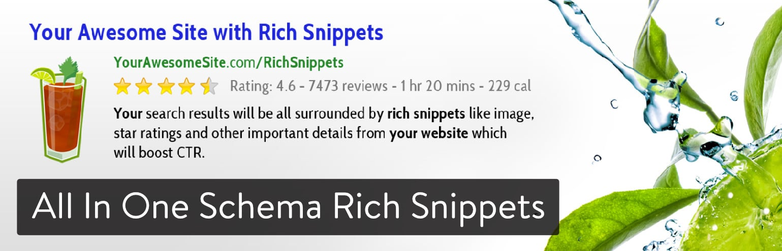 Extension WordPress All In One Schema Rich Snippets