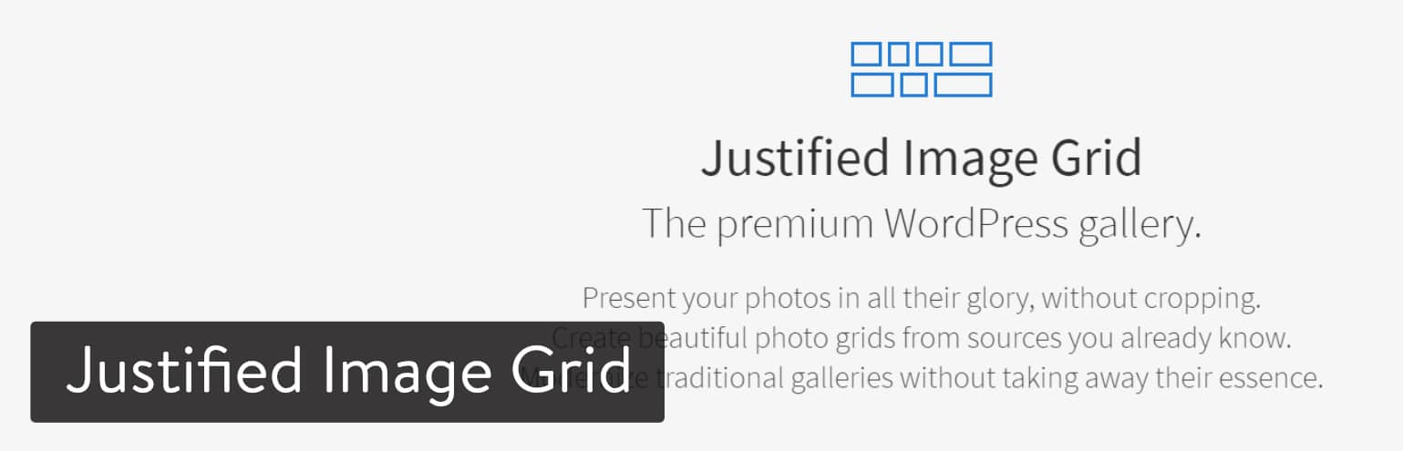 Extension WordPress Justified Image Grid