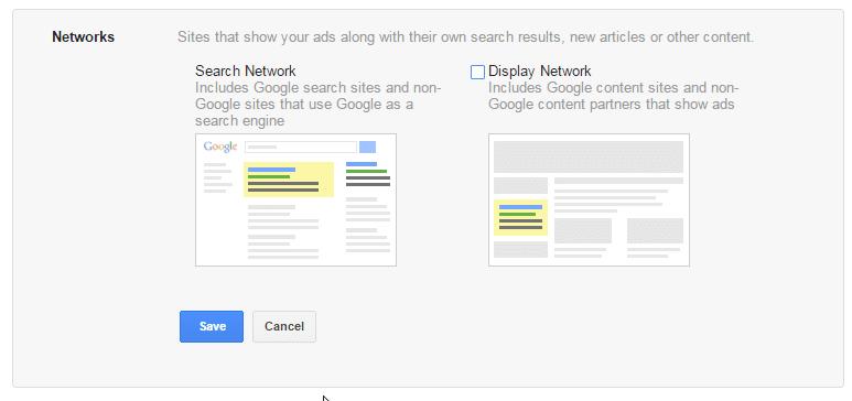 Réseau de recherche Google AdWords par rapport au réseau d'affichage