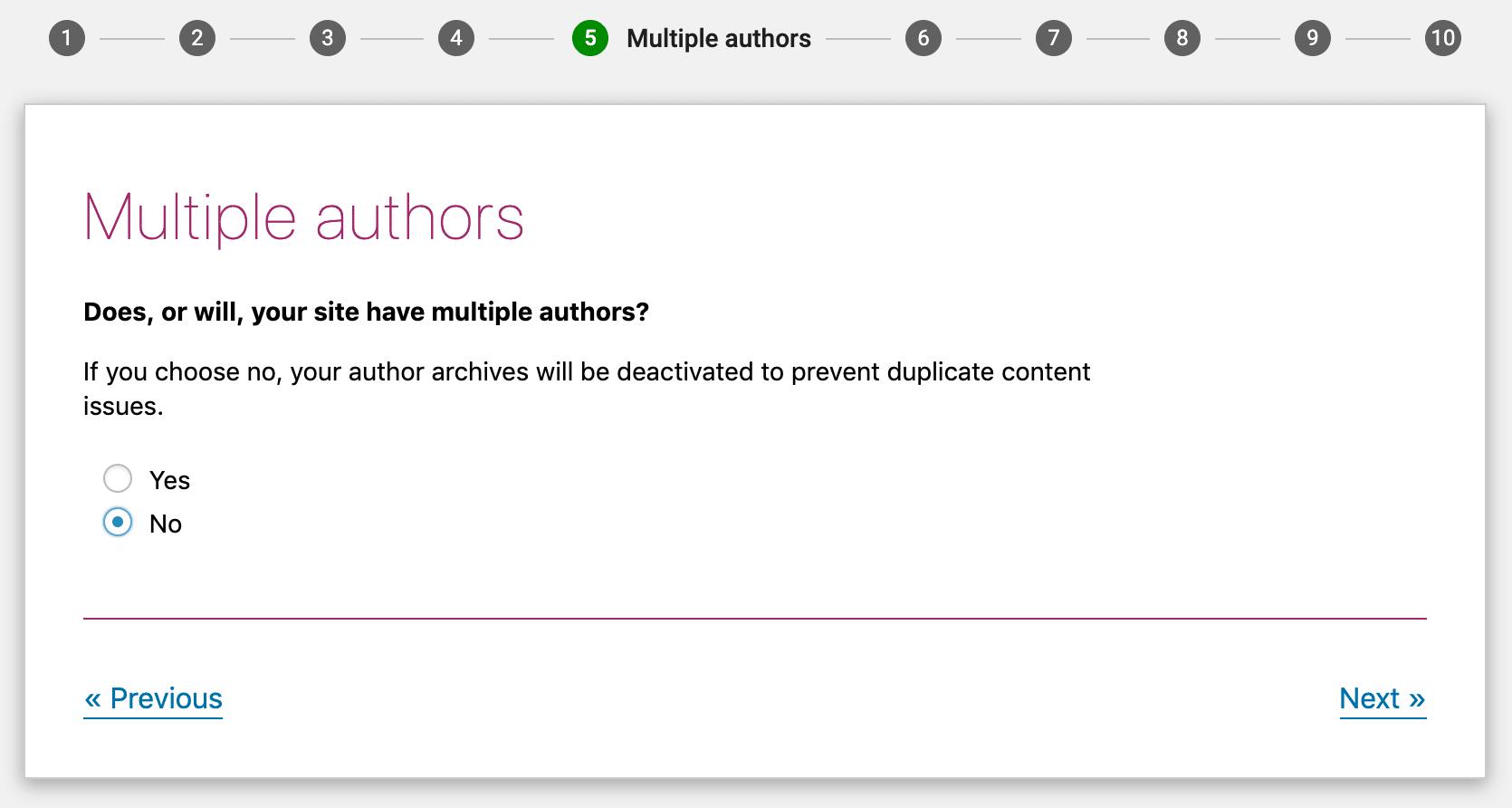 Choisissez si vous aurez un ou plusieurs auteurs