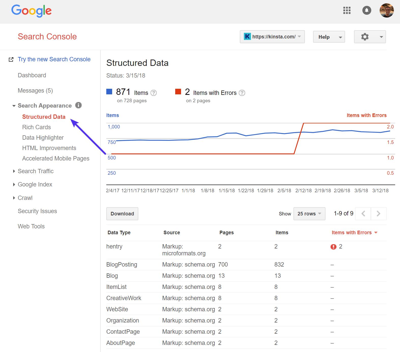 Données structurées Google
