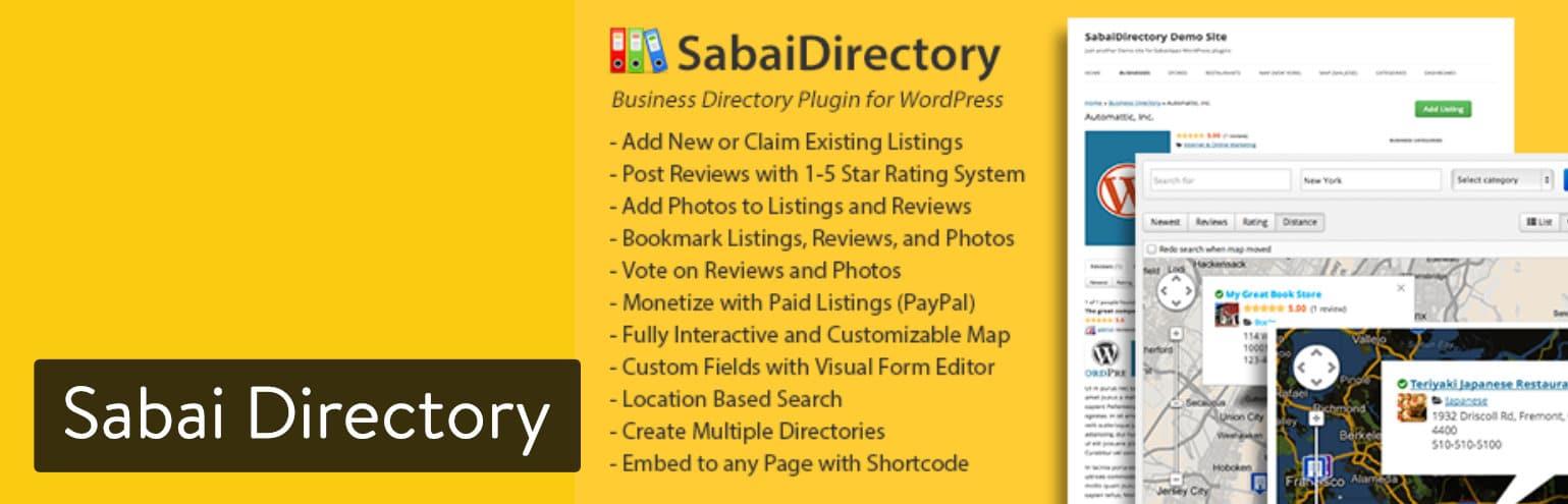 Extension WordPress Sabai Directory