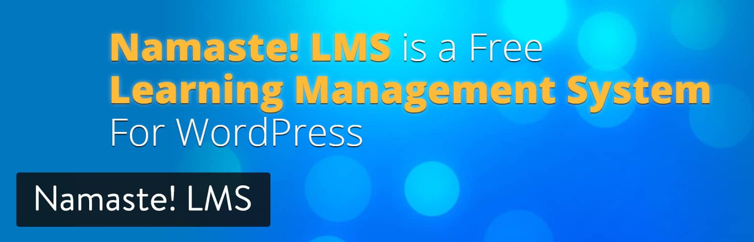 Plugin Namaste! LMS WordPress